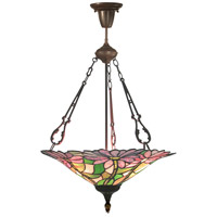 Dale Tiffany Feora 3 Light Pendant in Antique Bronze TH10505
