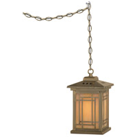 Dale Tiffany Mission Pendant Lamp 1 Light in Antique Brass Plating TH10890