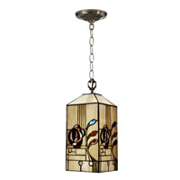 Dale Tiffany Rose Boudoir Mack Mini Pendant Lamp 1 Light in Antique Brass Plating TH11006