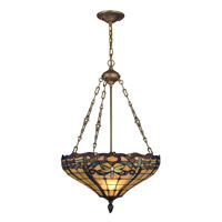 Dale Tiffany Cabrini 3 Light Pendant in Antique Brass TH12223