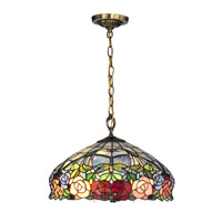 Dale Tiffany Zenia 1 Light Pendant in Antique Brass TH12233