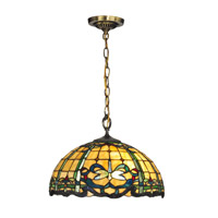Dale Tiffany Cabrini 1 Light Pendant in Antique Brass TH12234