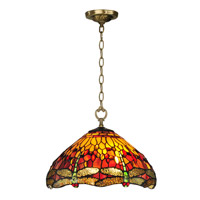Dale Tiffany Reves 1 Light Pendant in Antique Brass TH12270
