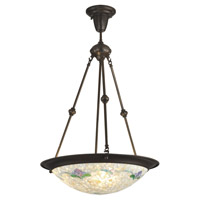 Dale Tiffany Nessa 2 Light Pendant in Antique Bronze TH12280