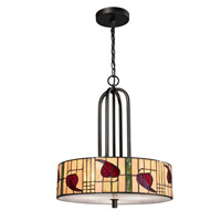 Dale Tiffany Macintosh 3 Light Pendant in Dark Bronze TH12323
