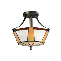 Dale Tiffany Visalia 2 Light Flush Mount in Dark Bronze TH12405