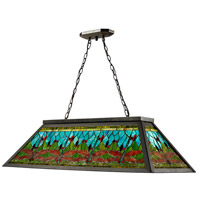 Dale Tiffany Glade 4 Light Pendant in Dark Bronze TH12406