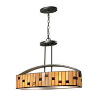 Dale Tiffany Mojave 2 Light Pendant in Dark Bronze TH12407