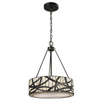 Dale Tiffany Willow 2 Light Pendant in Dark Bronze TH12418
