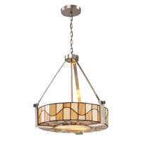 Dale Tiffany Sandfield 3 Light Pendant in Satin Nickel TH12420