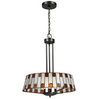 Dale Tiffany Wedgewood 1 Light Pendant in Dark Bronze TH12421