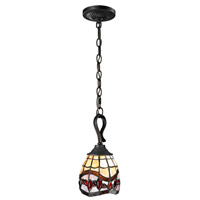 Dale Tiffany Fall River 1 Light Mini Pendant in Dark Bronze TH12425