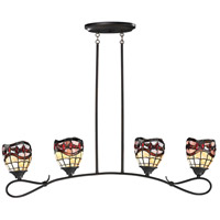Fall River 4 Light 39 inch Dark Bronze Pendant Ceiling Light