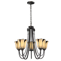 Dale Tiffany San Antonio 5 Light Chandelier in Dark Bronze TH12429