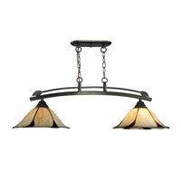 Dale Tiffany San Antonio 2 Light Pendant in Dark Bronze TH12430