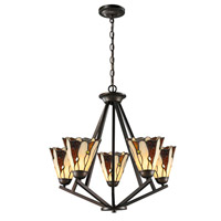 Dale Tiffany Ripley 5 Light Chandelier in Copper Bronze TH12434