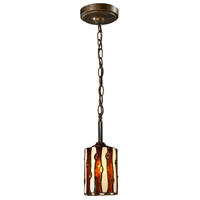 Diamond Hill 1 Light 5 inch Antique Golden Bronze Mini Pendant Ceiling Light