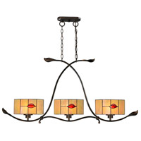 Dale Tiffany Fantom 3 Light Pendant in Rustic Bronze TH12451
