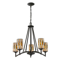 Dale Tiffany Candella 5 Light Chandelier in Textured Bronze TH12452