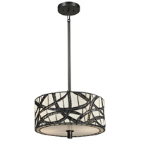Dale Tiffany Willow 2 Light Pendant in Dark Bronze TH13013