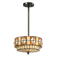 Dale Tiffany Wescott 2 Light Pendant in Dark Bronze TH13047