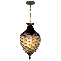 Dale Tiffany TH13053 Signature 1 Light 11 inch Antique Bronze Pendant Ceiling Light
