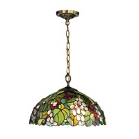 Dale Tiffany Paloma 1 Light Pendant in Antique Brass TH13114