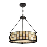 Sandy 3 Light 22 inch Dark Bronze Pendant Ceiling Light