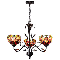 Dale Tiffany TH14116 Dragonfly 3 Light 24 inch Antique Golden Sand Pendant Ceiling Light