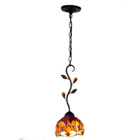 Dragonfly 1 Light 7 inch Antique Golden Sand Mini Pendant Ceiling Light