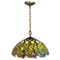 Pinot Noir 1 Light 16 inch Tiffany Bronze Pendant Ceiling Light