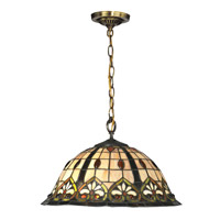 Reservoir 1 Light 16 inch Tiffany Bronze Pendant Ceiling Light