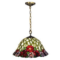 Misty 1 Light 16 inch Tiffany Bronze Pendant Ceiling Light