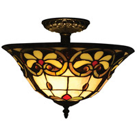 Reservoir 2 Light 14 inch Tiffany Bronze Flush Mount Ceiling Light