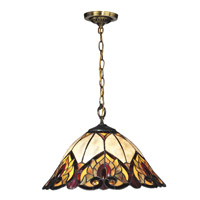 Reservoir 1 Light 17 inch Tiffany Bronze Pendant Ceiling Light