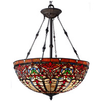 Dale Tiffany TH15121 Nowsoon 3 Light 22 inch Tiffany Bronze Inverted Hanging Fixture Ceiling Light