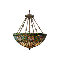 Montezuna 3 Light 28 inch Antique Bronze Inverted Pendant Ceiling Light
