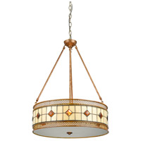 Dale Tiffany TH17024 Minerals 3 Light 20 inch Rustic Bronze Pendant Ceiling Light