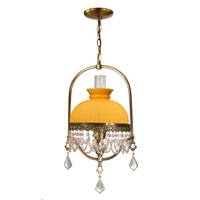 Dale Tiffany Diego Hurricane 1 Light Pendant in Zadar Brass TH50212