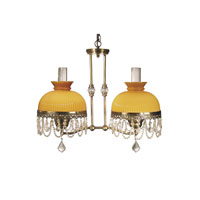 Dale Tiffany Diego Hurricane 2 Light Pendant in Zadar Brass TH50213
