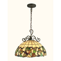 Dale Tiffany Tiffany Grape Hanging Fixture 1 Light in Antique Bronze TH70516 photo thumbnail