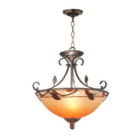 Dale Tiffany Garden Leaf Semi Flush Mount 2 Light in Antique Bronze Plating TH70544 photo thumbnail