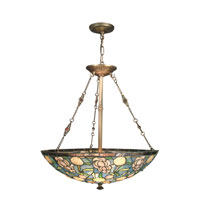 Dale Tiffany Laguna 3 Light Hanging Fixture in Classical Brass TH70716
