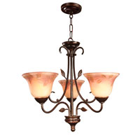 Dale Tiffany Leaf Vine Handpainted Chandelier 3 Light in Antique Golden Sand TH80481 photo thumbnail