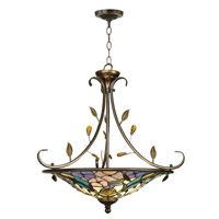 Crystal Peony 2 Light 25 inch Antique Golden Sand Hanging Fixture Ceiling Light