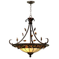 Dale Tiffany Pebblestone Inverted Hanging Fixture 2 Light in Antique Golden Sand TH90227 photo thumbnail