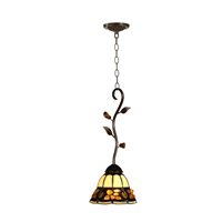 Dale Tiffany Pebblestone Mini Pendant Fixture 1 Light in Antique Golden Sand TH90229 photo thumbnail