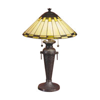 Dale Tiffany Gustav 1 Light Table Lamp in Mica Bronze TT100092