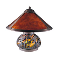 Dale Tiffany Dragonfly Mica 2+1 Light Table Lamp in Chocolate Bronze TT100162