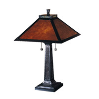 Dale Tiffany Mica Camelot Table Lamp 2 Light in Mica Bronze TT100174 photo thumbnail
